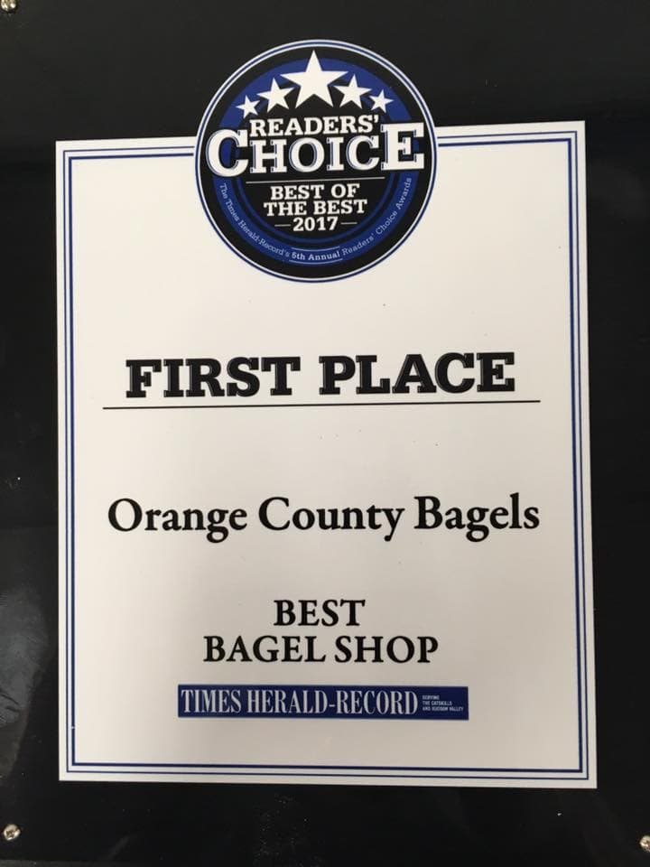Orange County Bagels Wins 2017 Best Bagel Shop